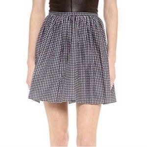 Madewell Gingham Shirred Side Zip Mini Skirt Sz2
